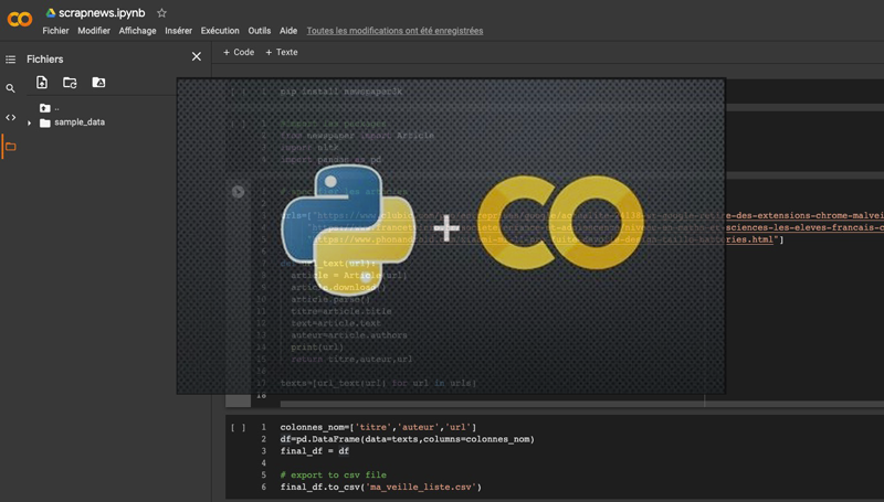 python et google colab for scrapping